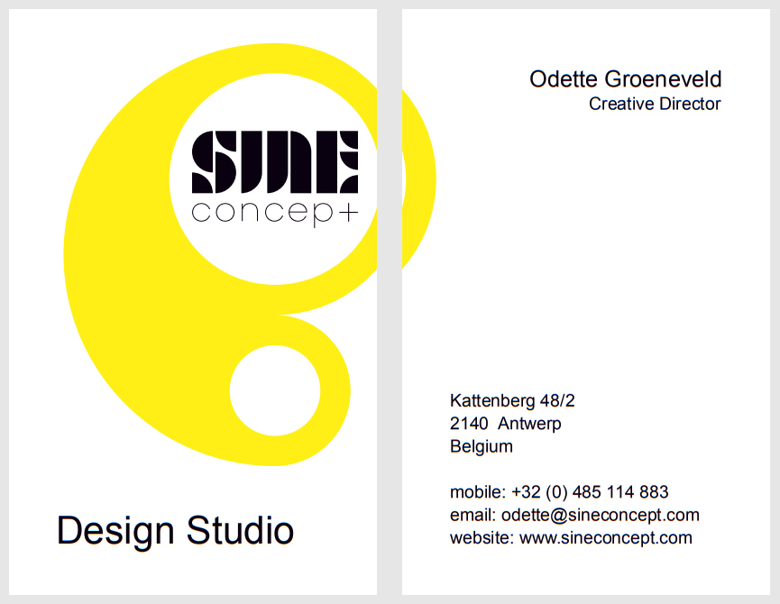 Sine Concept Odette Groeneveld Odette Renovations Grafische Vormgeving Graphic Design Antwerpen Antwerp Ibiza
