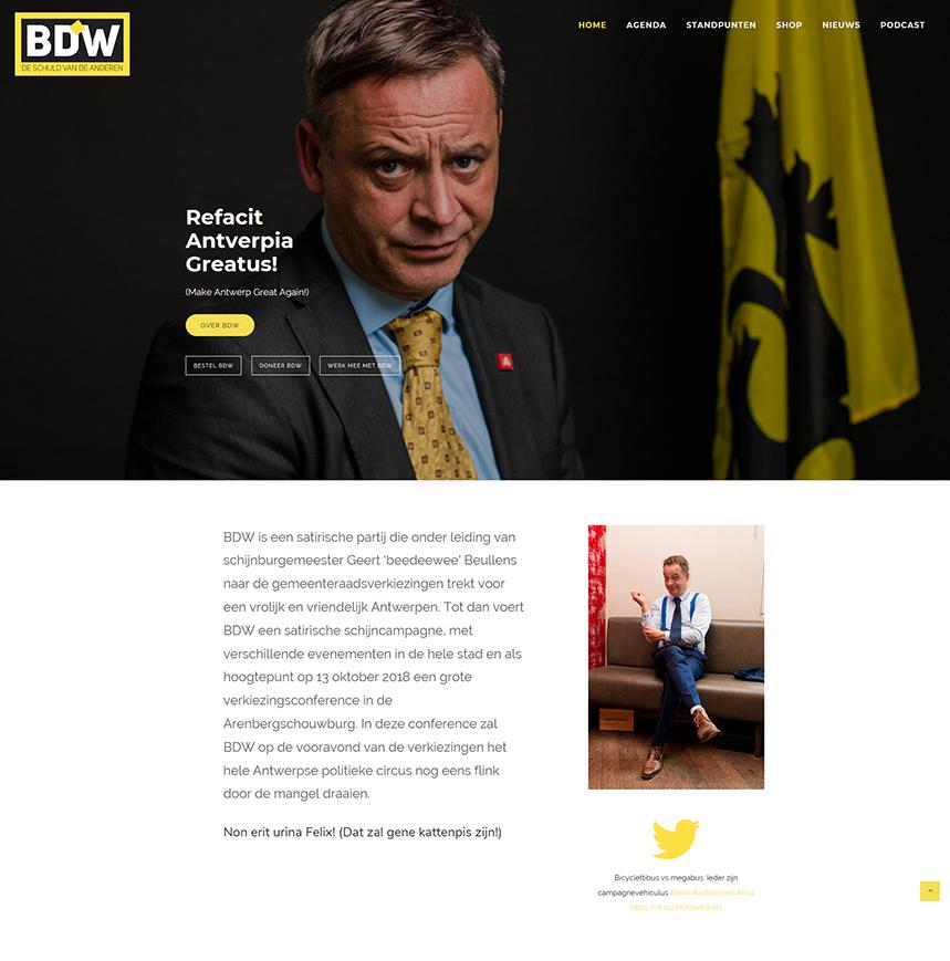 webdesign webdevelopment wordpress Antwerpen BDW Geert Beullens